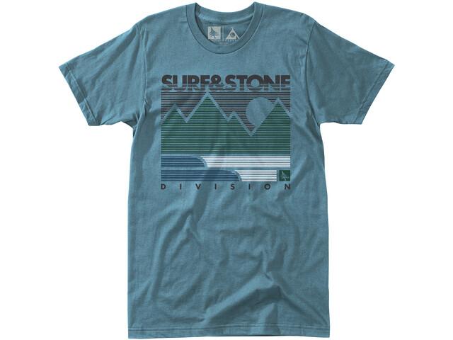 Hippy Tree Linework T-shirt Homme, blue